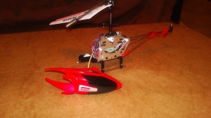 Helicopter with battery removed.